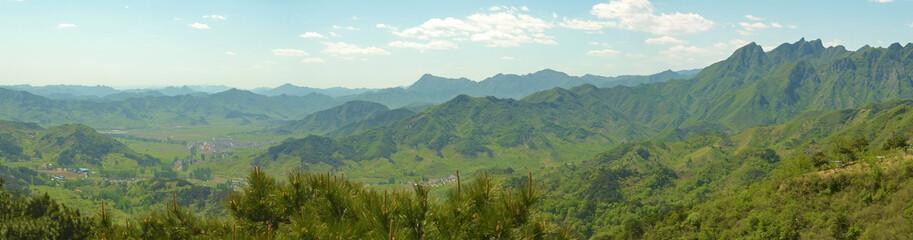 panorama of Chinese mountains