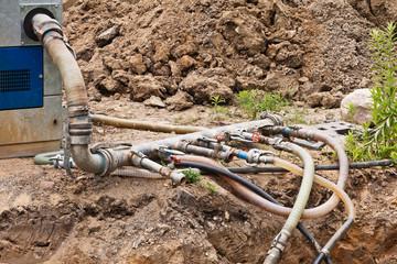 Grundwasserabsenkung an einer Baugrube