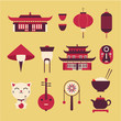 chineese travel icons