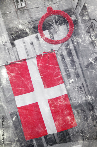 rétro - drapeau savoyard