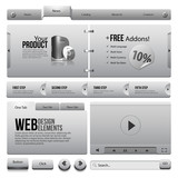 Metal Ribbons Website Design Elements 4