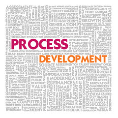Word cloud for business and finance concept, Process Development