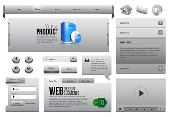 Metal Ribbons Website Design Elements 3