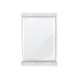 White Blank Foil Packaging Plastic Pack Ready