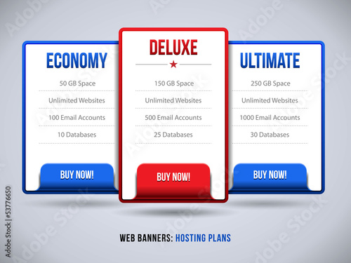 Web Banners Boxes Hosting Features