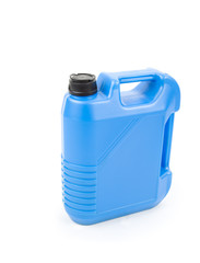Blue oil can with blank space