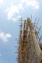 wooden scaffolding style
