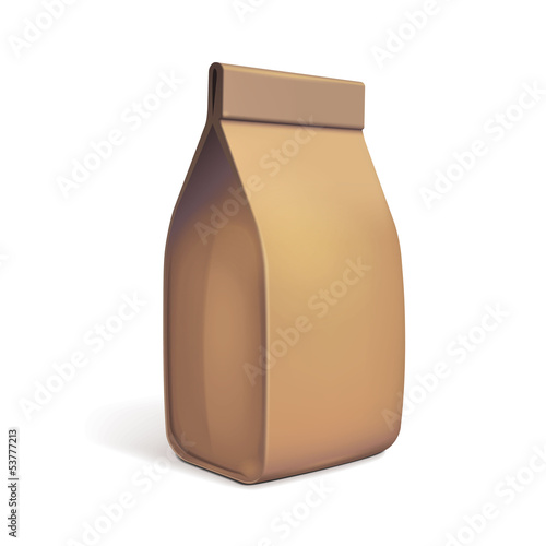 Paper Bag Package Of Coffee, Salt
