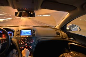 night car driving