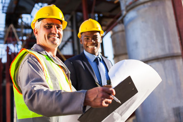 senior oil industry worker and manager