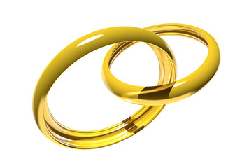 Wedding rings (3D)