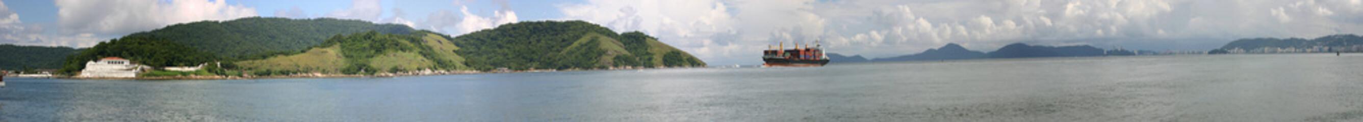 Santos panorama view