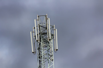 repeater tower with mobile telephony