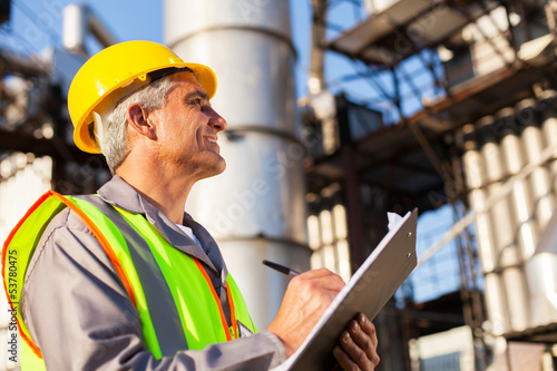 mid age petroleum factory worker