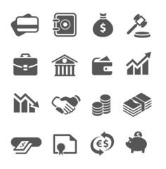 Financial icons set.