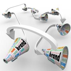 Brand Megaphones Bullhorns Connected Marketing Promotion