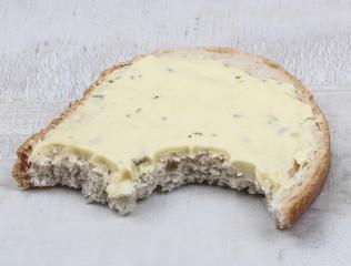 bitten bread and butter