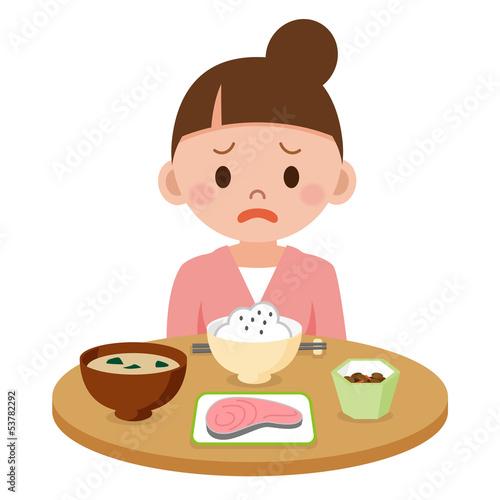 食欲不振の若い女性