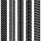 Black and white seamless truck tyre tracks