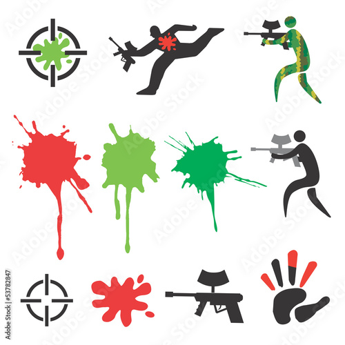Paintball_icons_design_elements
