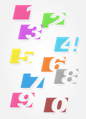 Set of colorful numbers.