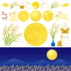 月見 広告 イラスト