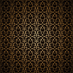 Vintage gold lace, seamless pattern
