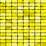 Yellow mosaic tile seamless pattern - background