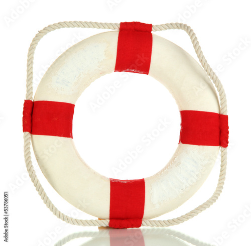 Small lifeline isolated on white