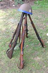 Old guns from world war II