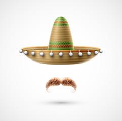 Sombrero and mustache