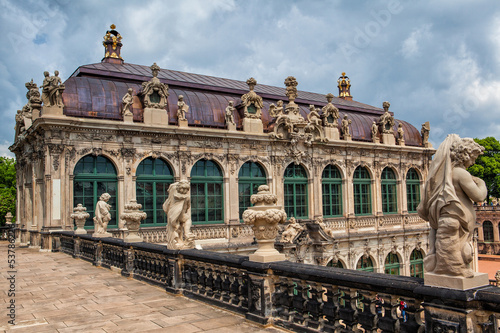 The famous palace in Zwinger in Dresden