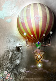 Hot air balloon and gypsy