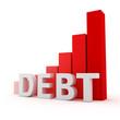 Bar graph of debt