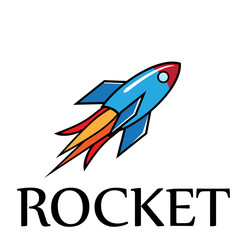 Vector 	Logo Rocket