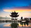 hangzhou in sunset
