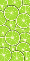 Seamless vector background pattern with limes
