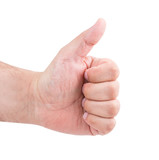 thumbs up man's hand