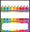 Colored pencils banners.