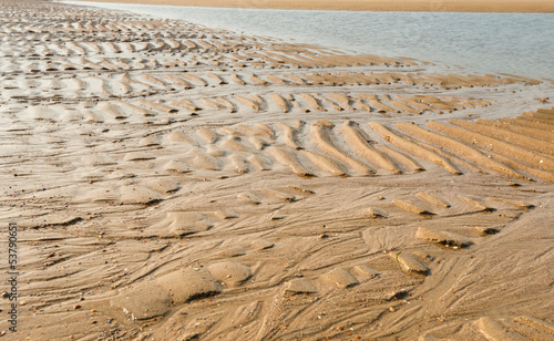 Ripples on the beach