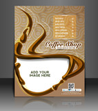 Fototapety Vector  Coffee house Menu Card Flyer Magazine & Poster Template