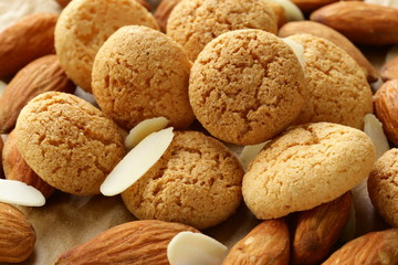 sweet almond cookies biscuits (amaretti)