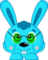 Learned blue rabbit