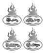 old car fire badge