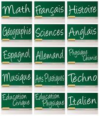 TABLEAU_Matières scolaires