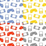 game console pattern color