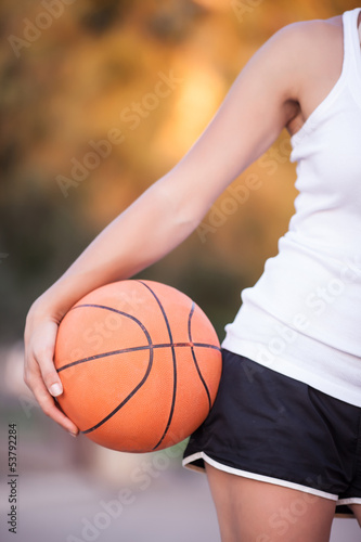 girl with a basketball ball