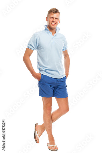 Young happy handsome man isolated