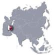 Asienkarte mit Katar
