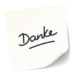 """White Stick Note """"Danke"""""""